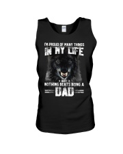 Proud Dad Wolf  Unisex Tank tile