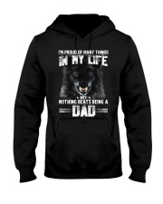 Proud Dad Wolf  Hooded Sweatshirt thumbnail