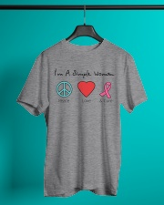 Breast Cancer Simple Woman T-shirt Classic T-Shirt lifestyle-mens-crewneck-front-3