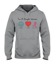 Breast Cancer Simple Woman T-shirt Hooded Sweatshirt tile