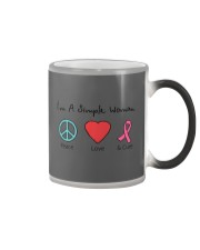 Breast Cancer Simple Woman T-shirt Color Changing Mug tile