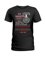 Viking Dad Daughter Don't Forget I Love You Ladies T-Shirt thumbnail