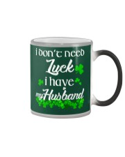 Patrick's day I don't need lucky shirt Color Changing Mug thumbnail