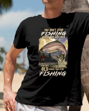 You Get Old When You Stop Fishing Classic T-Shirt lifestyle-mens-crewneck-front-11