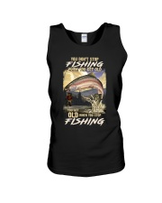 You Get Old When You Stop Fishing Unisex Tank thumbnail
