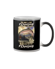 You Get Old When You Stop Fishing Color Changing Mug thumbnail