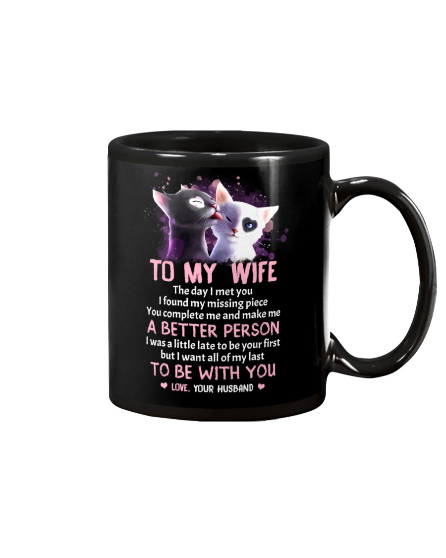The Day I Met You My Missing Piece Cat Mug