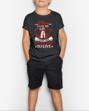 Mom Gave Me Life Youth T-Shirt lifestyle-youth-tshirt-front-1