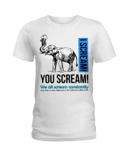 Elephant I scream You scream  Ladies T-Shirt thumbnail