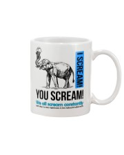 Elephant I scream You scream  Mug tile