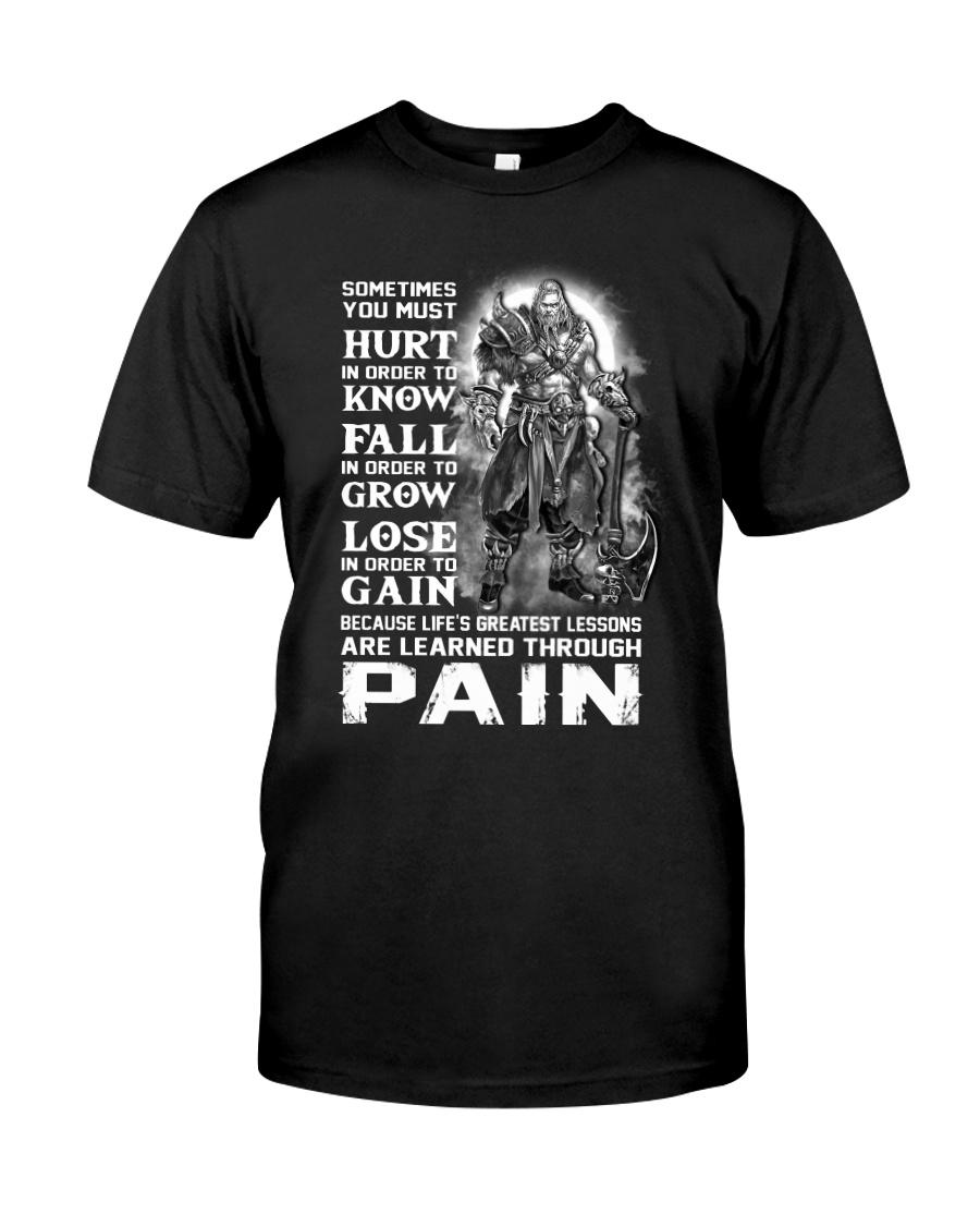 Vikings Through Pain Shirt Classic T-Shirt