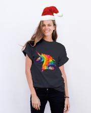 Unicorn Tie Dye Classic T-Shirt lifestyle-holiday-crewneck-front-1