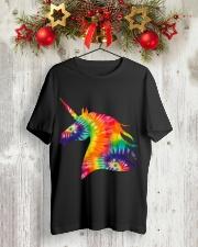 Unicorn Tie Dye Classic T-Shirt lifestyle-holiday-crewneck-front-2