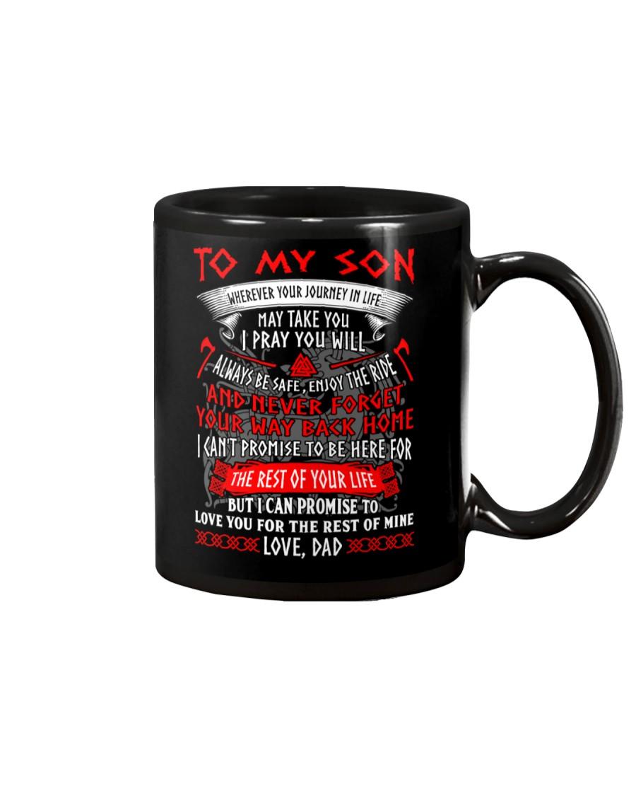 Son I Pray You Will Always Be Safe Viking Mug