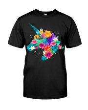 Unicorn Flowers Aloha Hawaii Classic T-Shirt front