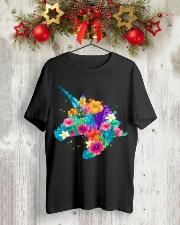Unicorn Flowers Aloha Hawaii Classic T-Shirt lifestyle-holiday-crewneck-front-2
