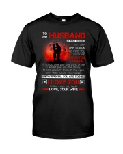 Firefighter Husband Clock Ability Moon Classic T-Shirt thumbnail