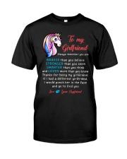 Unicorn Braver Stronger Smarter Girlfriend Mug Classic T-Shirt thumbnail