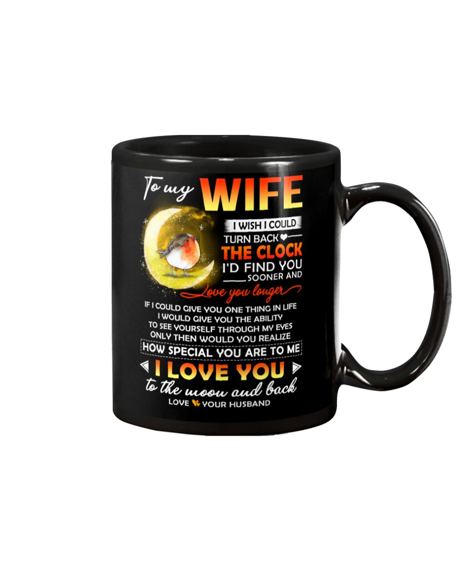 Bird Wife Clock Ability Moon Mug