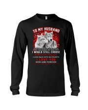 Wolf Turn Back Hand Of Time Husband Long Sleeve Tee thumbnail