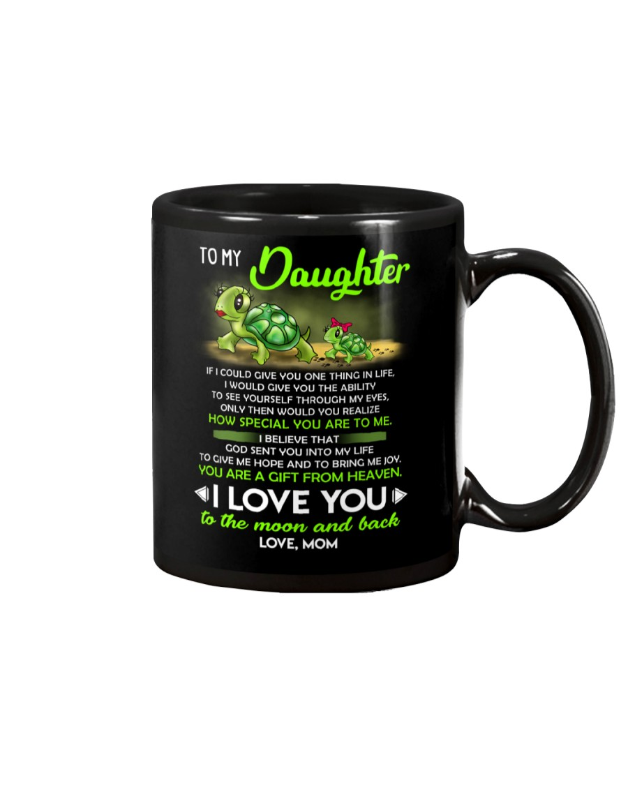 Turtle Daughter Mom Clock Ability Moon Mug