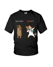 Unicorn Your Aunt My Aunt Dabbing Youth T-Shirt front