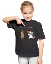 Unicorn Your Aunt My Aunt Dabbing Youth T-Shirt lifestyle-youth-tshirt-front-2