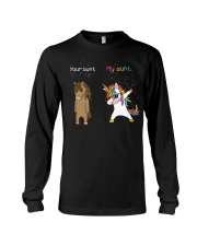 Unicorn Your Aunt My Aunt Dabbing Long Sleeve Tee thumbnail