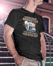 Elephant My Freaking Awesome Daughter Bought Me  Classic T-Shirt lifestyle-mens-crewneck-front-5