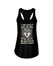 I Am Wolf Ladies Flowy Tank thumbnail