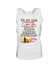 Autism Love At First Sight Son Dad  Unisex Tank tile