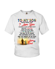 Autism Love At First Sight Son Dad  Youth T-Shirt tile
