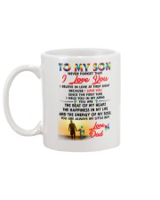 Autism Love At First Sight Son Dad  Mug back