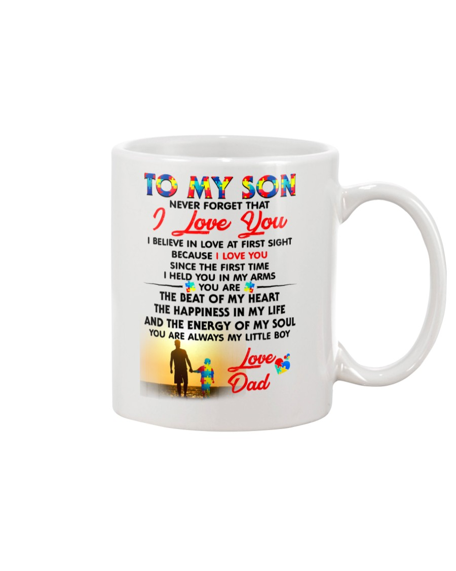 Autism Love At First Sight Son Dad  Mug