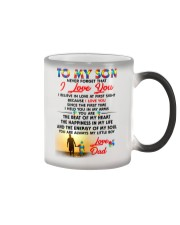 Autism Love At First Sight Son Dad  Color Changing Mug tile