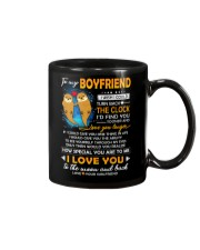 Otter Boyfriend Clock Ability Moon Mug front
