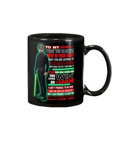 To my son - Love Dad - Luke Skywalker mug