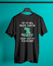 Try My New Recipe Dinosaur Classic T-Shirt lifestyle-mens-crewneck-front-3