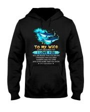 Dolphin Wife I Love You Hooded Sweatshirt thumbnail