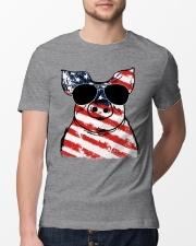 Farmer Pig flag  Classic T-Shirt lifestyle-mens-crewneck-front-13