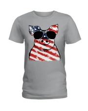Farmer Pig flag  Ladies T-Shirt thumbnail