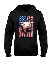 American Flag Pig Hooded Sweatshirt thumbnail