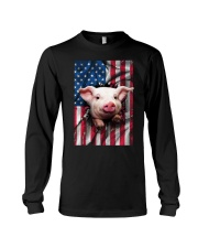 American Flag Pig Long Sleeve Tee tile