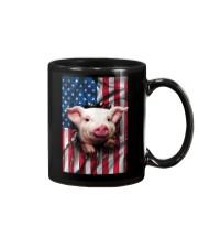 American Flag Pig Mug thumbnail