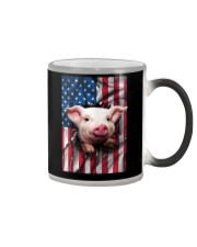 American Flag Pig Color Changing Mug tile