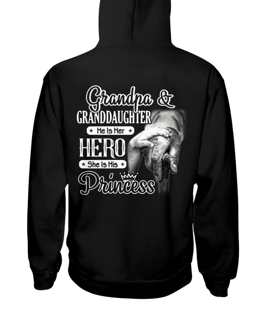 Grandpa Hero Granddaughter Princess Hooded Sweatshirt