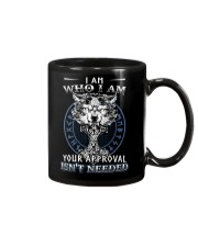 I Am Who I Am Yourr Approval Isn't Needed Viking Mug tile