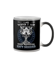 I Am Who I Am Yourr Approval Isn't Needed Viking Color Changing Mug tile