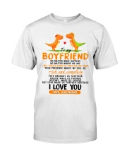 Dinosaur Boyfriend Love Made Us Forever Together Classic T-Shirt thumbnail