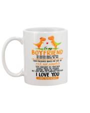 Dinosaur Boyfriend Love Made Us Forever Together Mug back